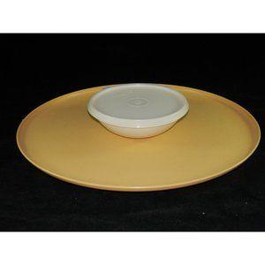 Tupperware Dining - Vintage Tupperware Dip N Serve Tray with Bowl Gold